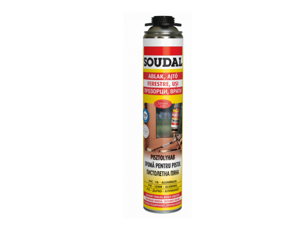 SOUDAL SPUMA PU PISTOL YELLOW 750 ML